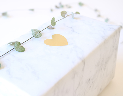 brushed golden heart stickers, gift wrap design, marble paper