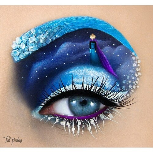 09-Elsa-Frozen-Tal-Peleg-Eye-Make-Up-Art-Drawings-www-designstack-co