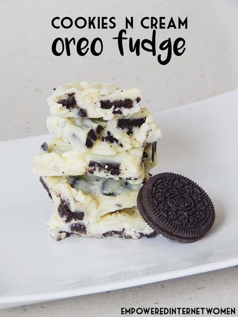 no bake oreo cookie fudge