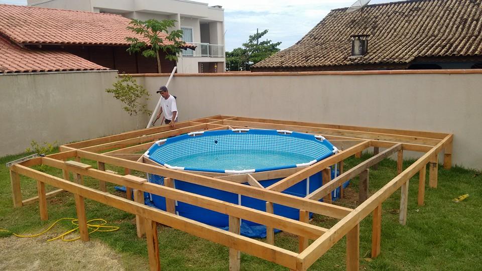 Do It Yourself Deck Pool Idea Handy Diy