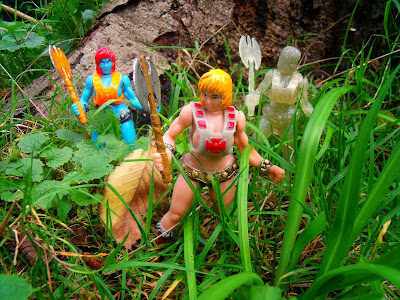 Wo-Man & the Masters of the Universe Bootleg Resin Figures by BigMan Toys - Faye-Kerr, Wo-Man & Wo-Man Brilliant Replica