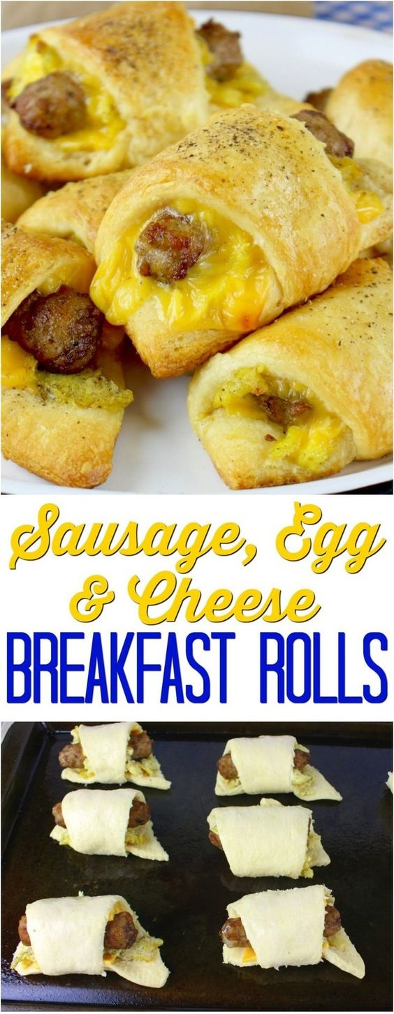 Sausage, Egg And Cheese Breakfast Rolls