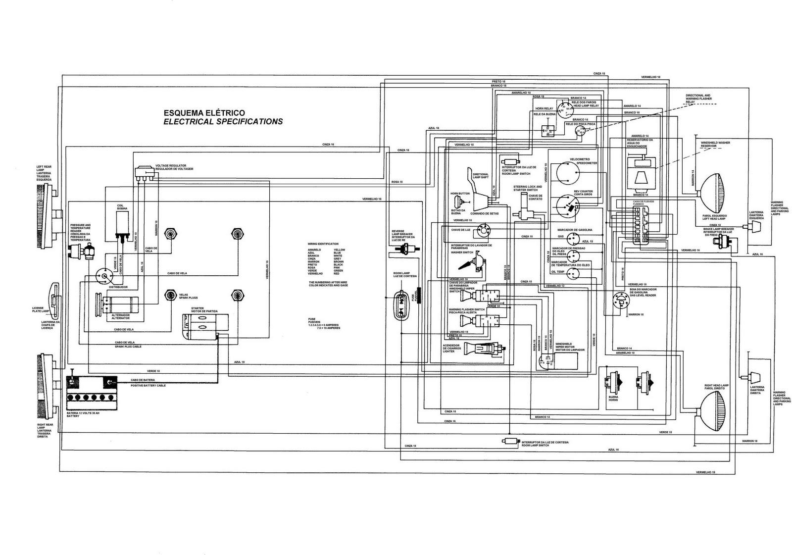 Autos Vw Fusca Fatos Fotos Diagrama Eletrico Do Puma