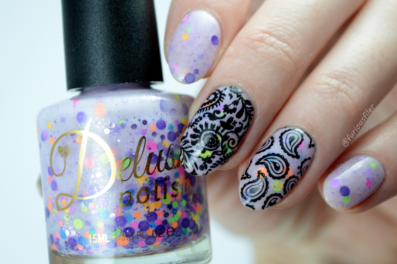 paisley confetti furious filer spring nails