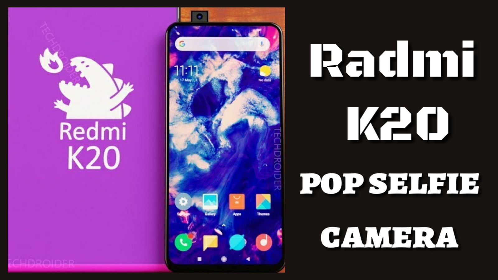 bad07967ad Redmi K20 teaser confirms pop up selfie camera know more details, launching  on May 20 in India.