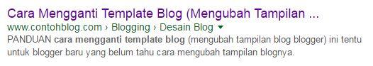 judul halaman posting - cara ganti template blog
