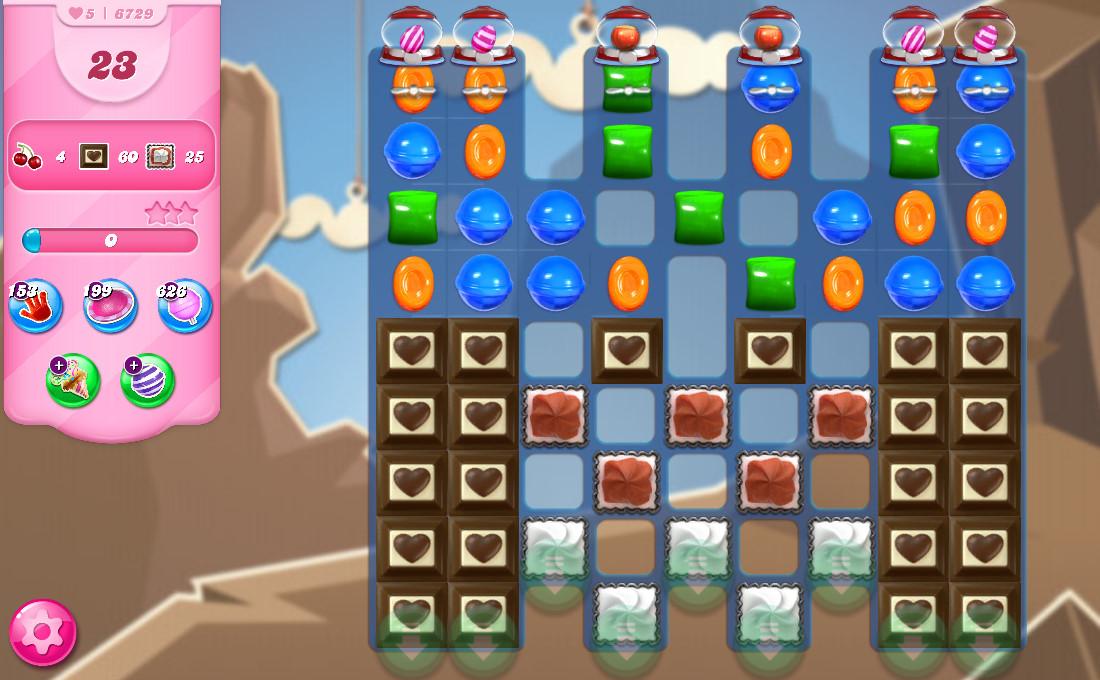 Candy Crush Saga level 6729