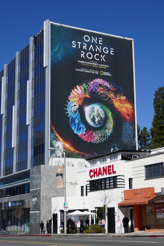 One Strange Rock tv series billboard