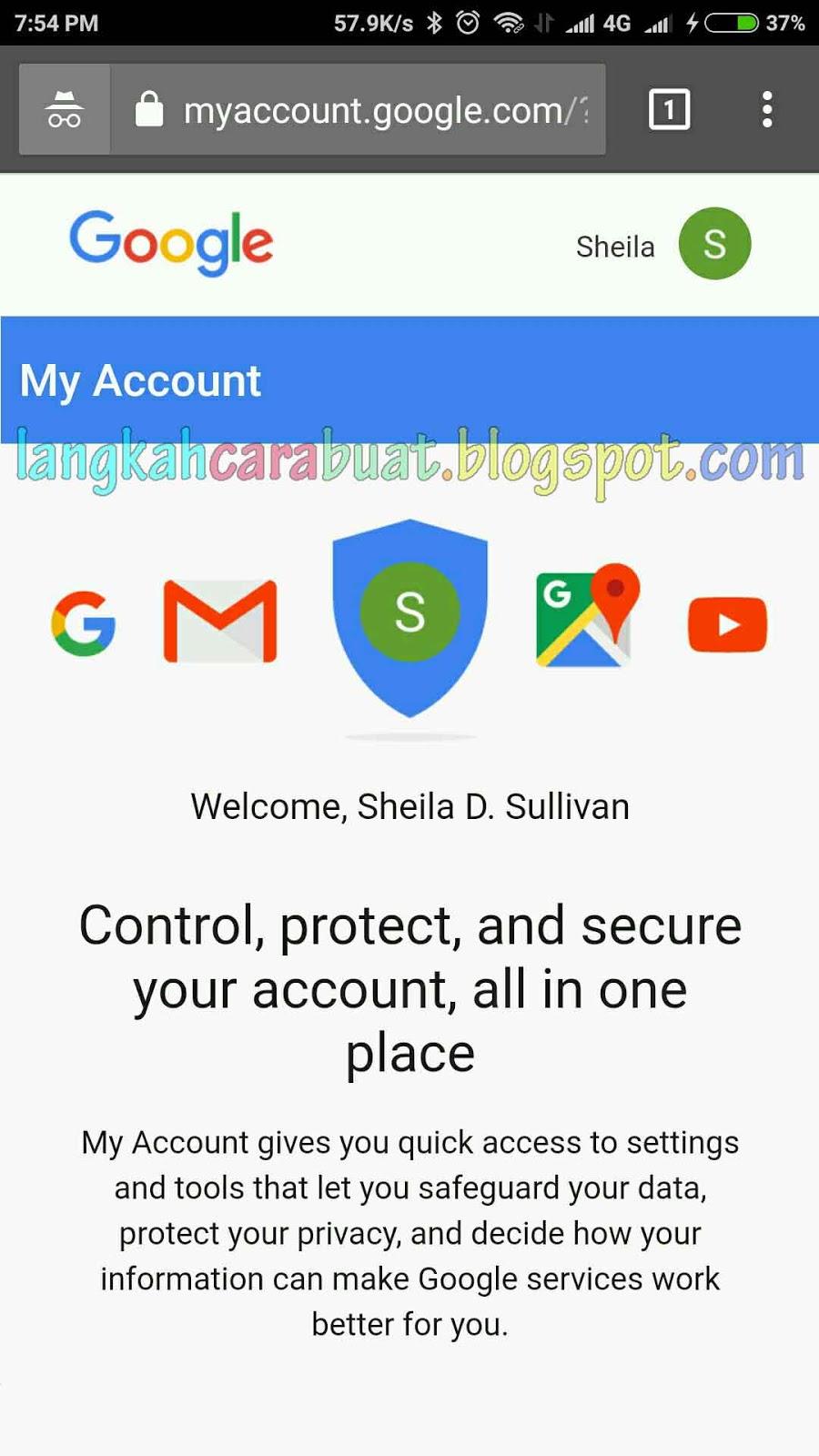 ganti kata sandi akun google
