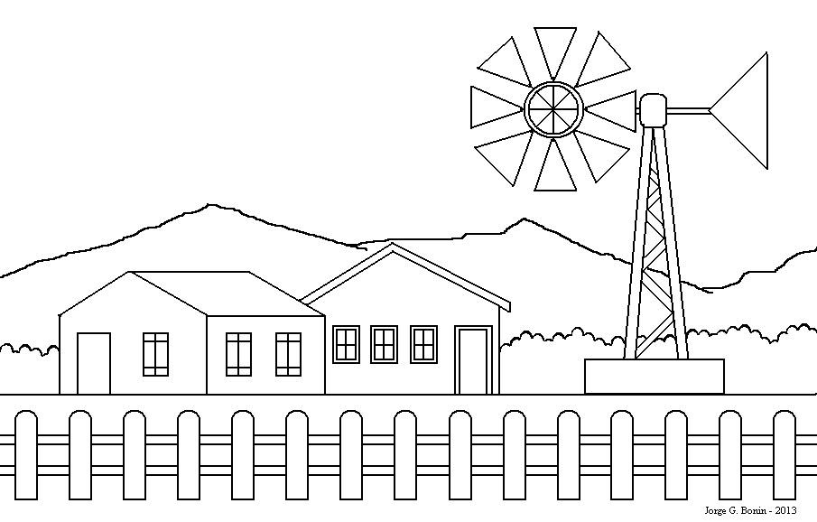 Arte No Paint: Desenho Para Colorir: Casas