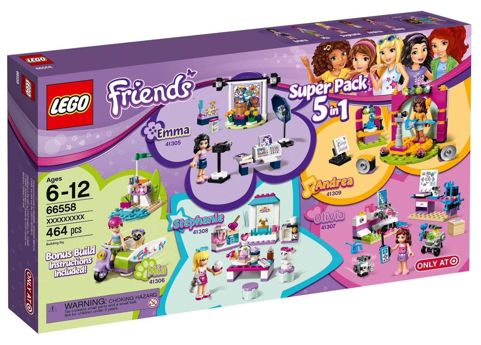 Heartlake Times Lego Friends Super Pack 5 In 1