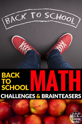 Looking for print & go math activities for back to school?  These September Math Challenges are perfect for advanced 2nd and 3rd graders! Includes 26 challenge and brain teaser activities ready with NO PREP for centers, homework, problem of the week, or small group learning. Fun for kids and easy for teachers! Click for details.