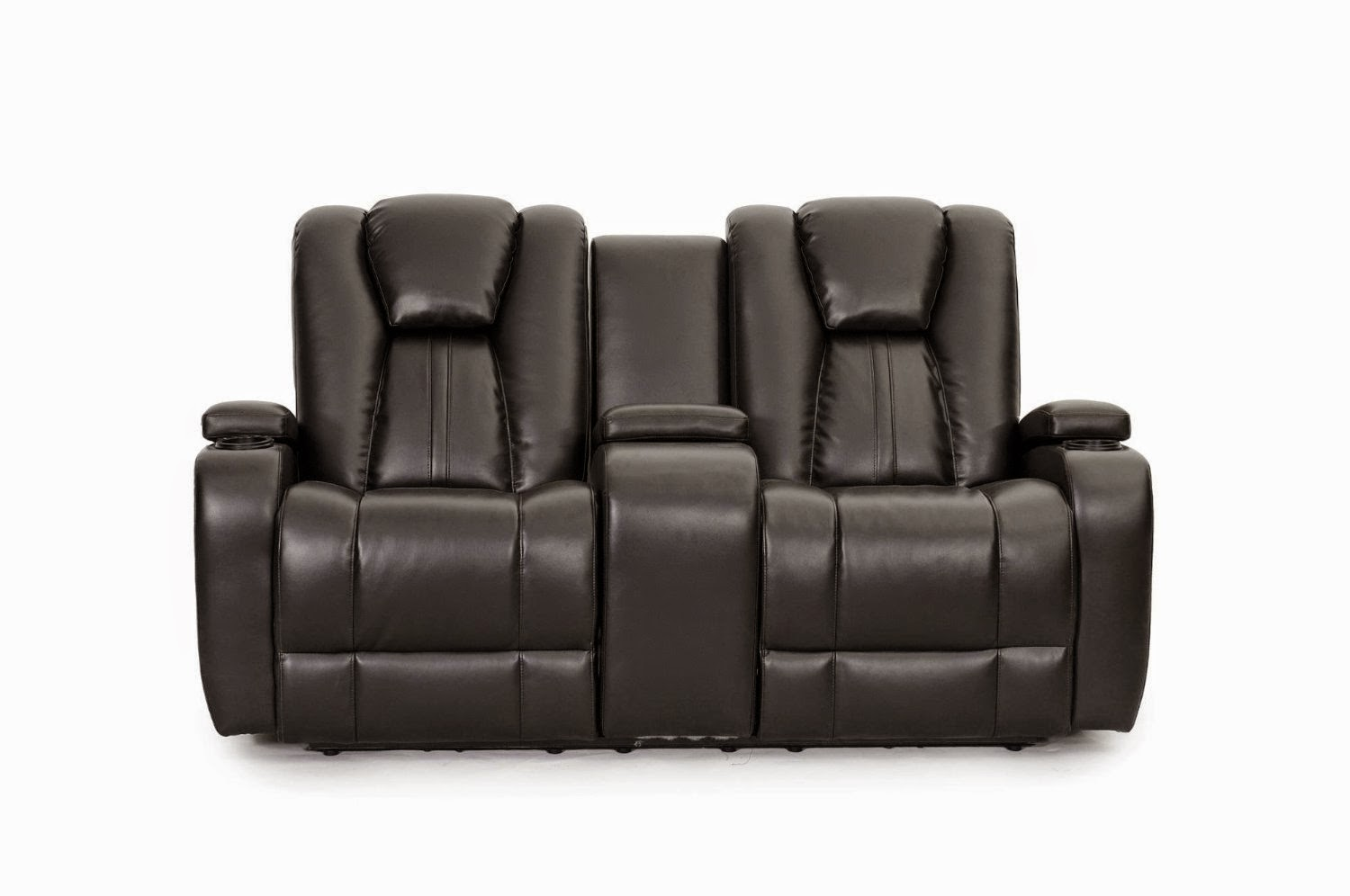 Double Reclining Sofa With Fold Down Table Extra Large Leather Sofas Tray Recliner For