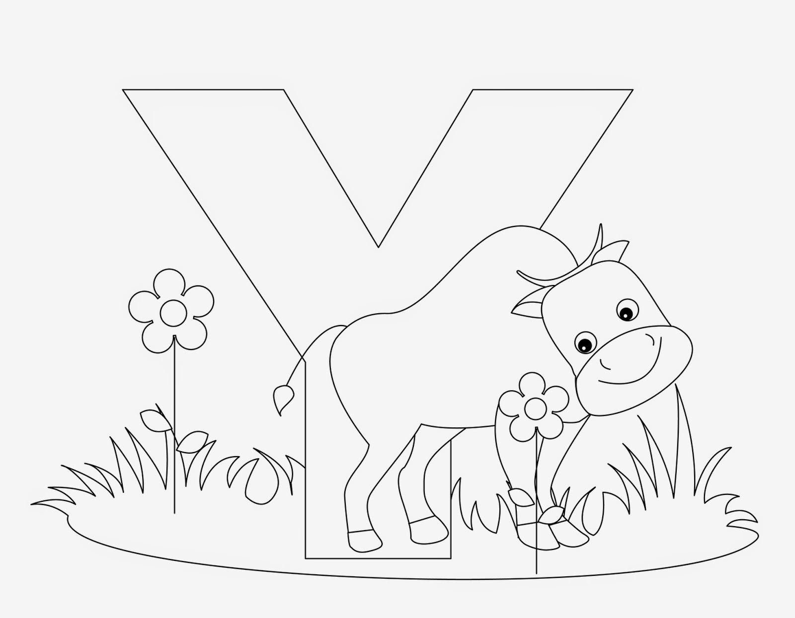 Kids Page Y Is For Yak
