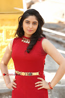 Telugu Actress Zahida Sam Latest Pos in Red Gown at RF Films New Movie Opening  0025.JPG