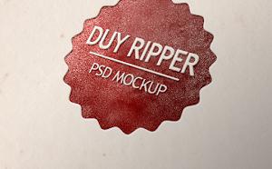 [PSD] Logo Mockup nổi trên giấy đẹp và đơn giản