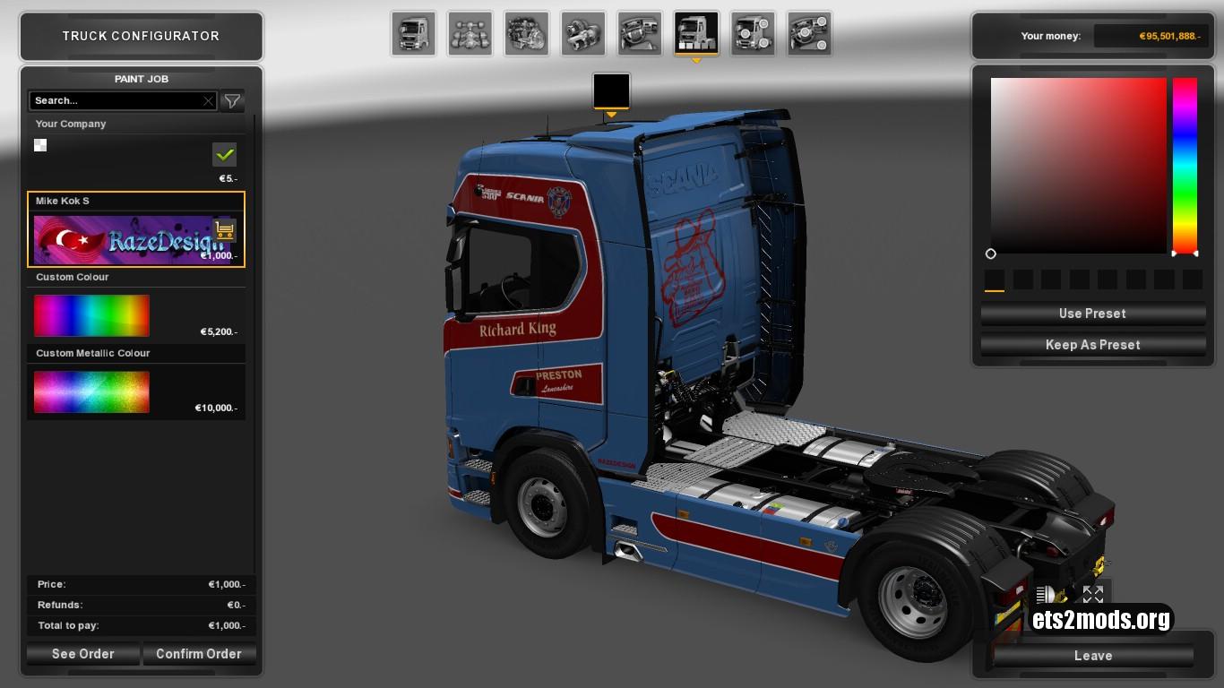 Richard King Skin for Scania S580
