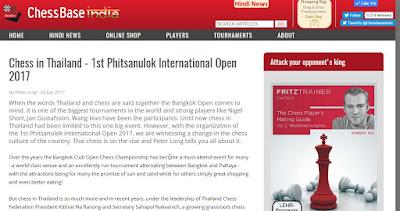 Phitsanulok Open in ChessBase India