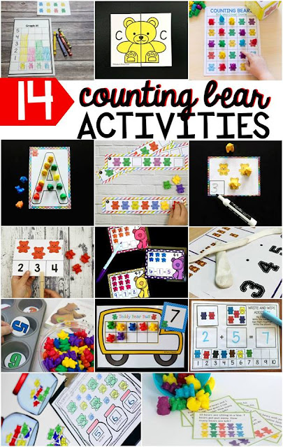 Counting bear activities and freebies perfect for kindergarten and preschool