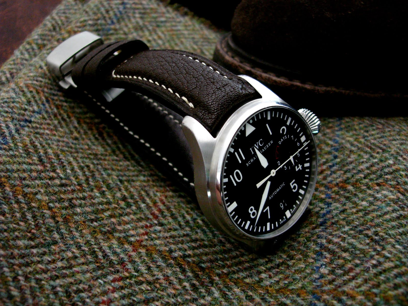 Ingo's IWC Big Pilot on Jurassic Chocolate strap with TCLS