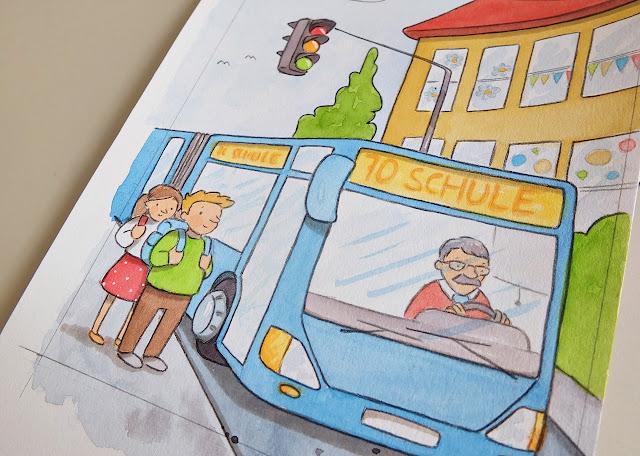 ilustrace autobus