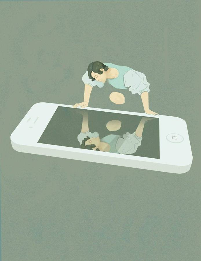 The Absurdities of Life in the 21st Century Captured in Powerful Illustrations - Social Media Narcissism