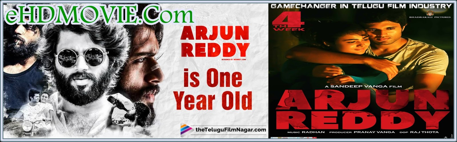 Arjun Reddy 2017 Full Movie Telegu 720p - 480p ORG HDRip 600MB - 1.2GB ESubs Free Download