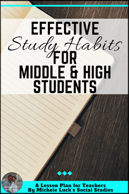 Tips for teaching effective learning and study habits for the middle or high school classroom.