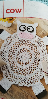 Crochet Pattern Cow Rug Pattern for Kids Rooms