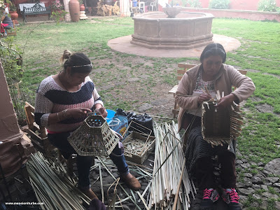 Indigenous Artisan Women working at the Palace of Huitziméngari in Pátzcuaro