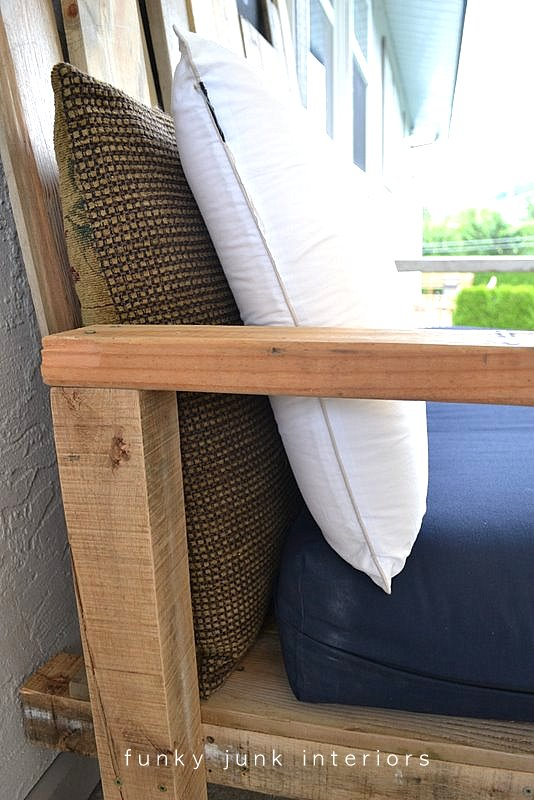 diy sofa from pallets lofa how i built the pallet wood part 2 funky junk interiors via