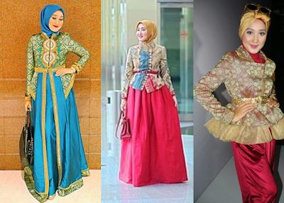 Model baju batik muslim dian pelangi
