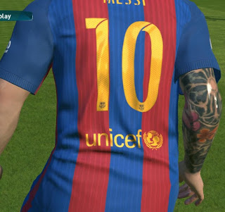 PES 2017 Tattoo Repack Full Body for All Patches by Awaluddin Aco