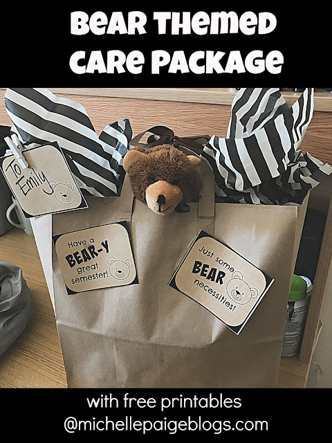 College Care package ideas @michellepaigeblogs.com