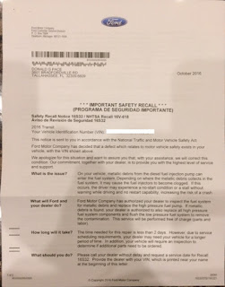 Ford Recall Letter