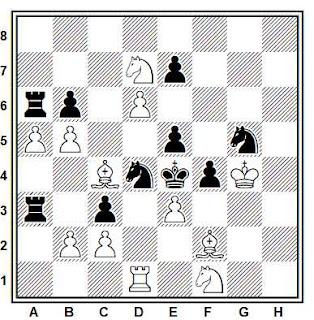 Problema de mate en 2 compuesto por Francesco Simoni (1º Premio, Memorial Dr. José Tolosa i Carreras 100)