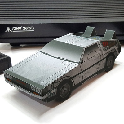 Ready Player One DeLorean Papercraft