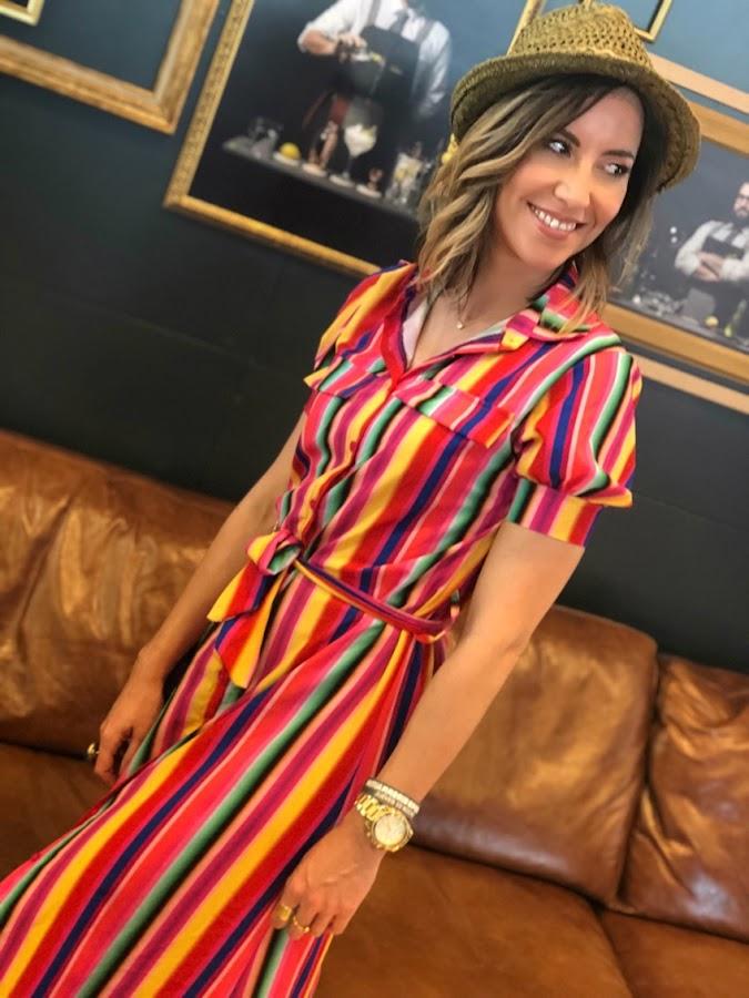 Fitness And Chicness-Vestido Largo Rayas Multicolor-2