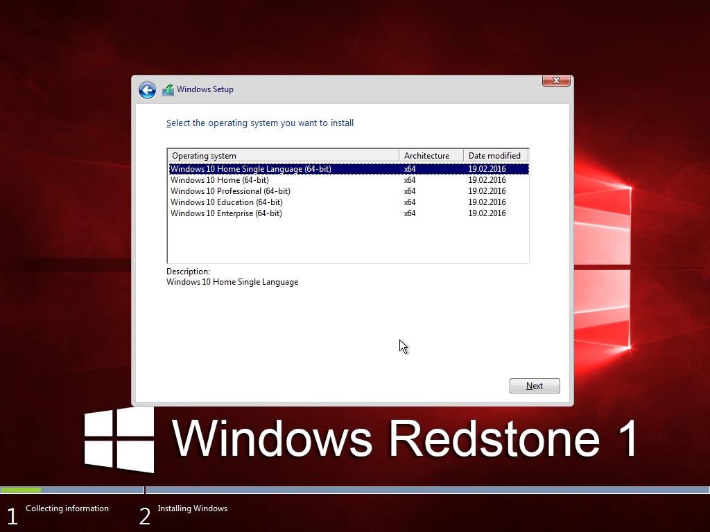 windows 10 redstone 32 bit