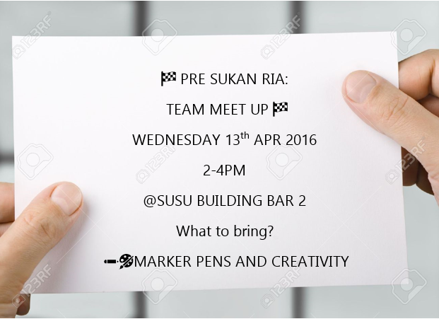 Team Meet up 13th apr 2-4pm at SUSU bar 2