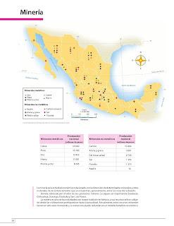 Apoyo Primaria Atlas de México 4to Grado Bloque IV Lección 9 Minería
