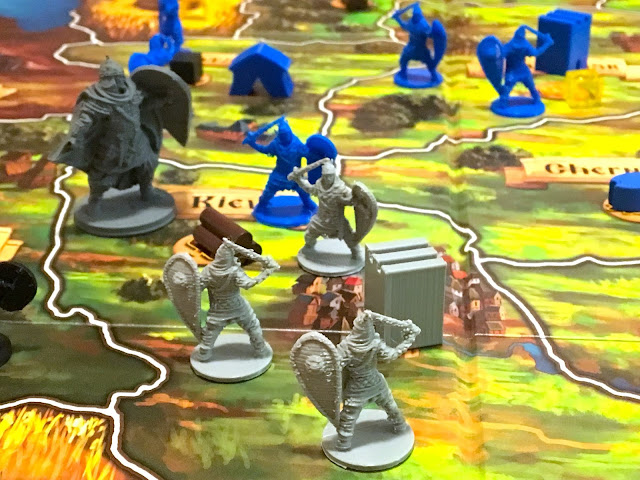 Rurik Dawn of Kiev Board Game by PieceKeeper Games Gameplay mini miniatures board