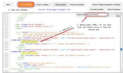 template HTML editor