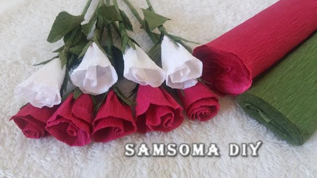 DIY : Crepe Paper Roses   🌷  اعمال يدوية 🌷 عمل ورود من الورق المموج   🌹 ورد من ورق الكورنيش     طريقة عمل ورود  / عمل وردة من الورق المموج / عمل ورد من ورق الكورنيش / عمل ورود بالورق/ اصنعي وردة روعة من ورق الكوريشة /  /اعمال فنية سهلة /  How To Make A Crepe Paper Rose / DIY Paper Craft /   Handmade Crepe paper flowers /   /  DIY rose paper /  Crepe paper rose / diy crepe flower