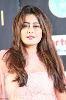 Nidhi Subbaiah Glamorous Pics in Transparent Peachy Gown at IIFA Utsavam Awards 004.JPG