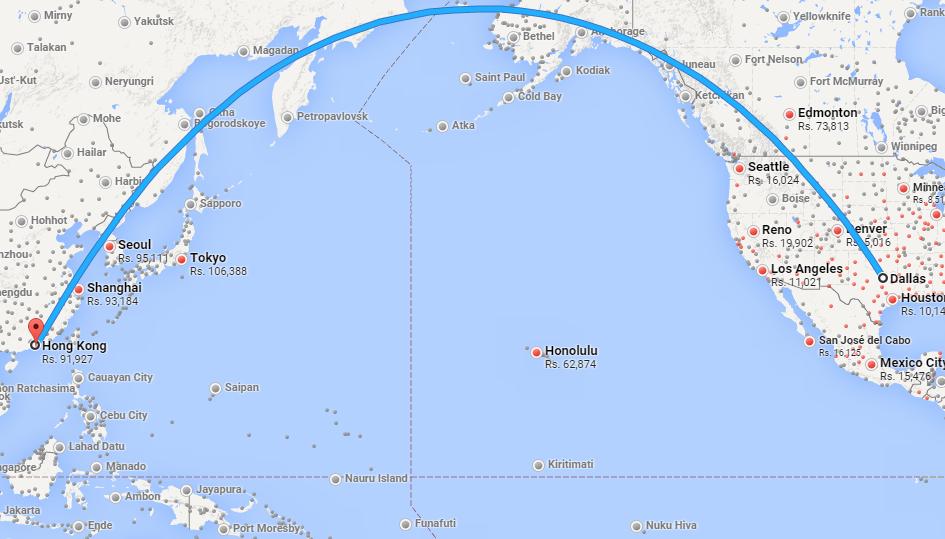 Hong kong to san francisco flight duration