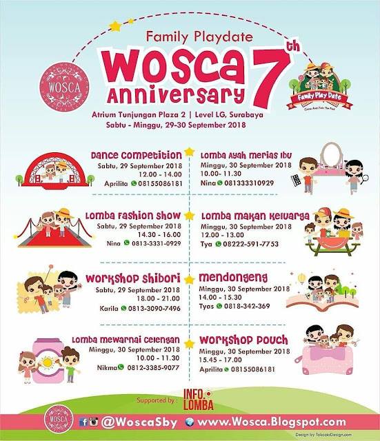 Event Family Playdate WOSCA 7th Anniversary 2018