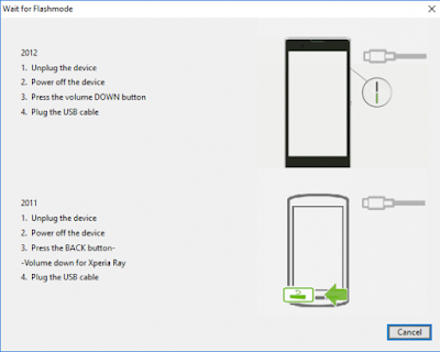 Cara Flash Stock ROM Xperia Flashtool