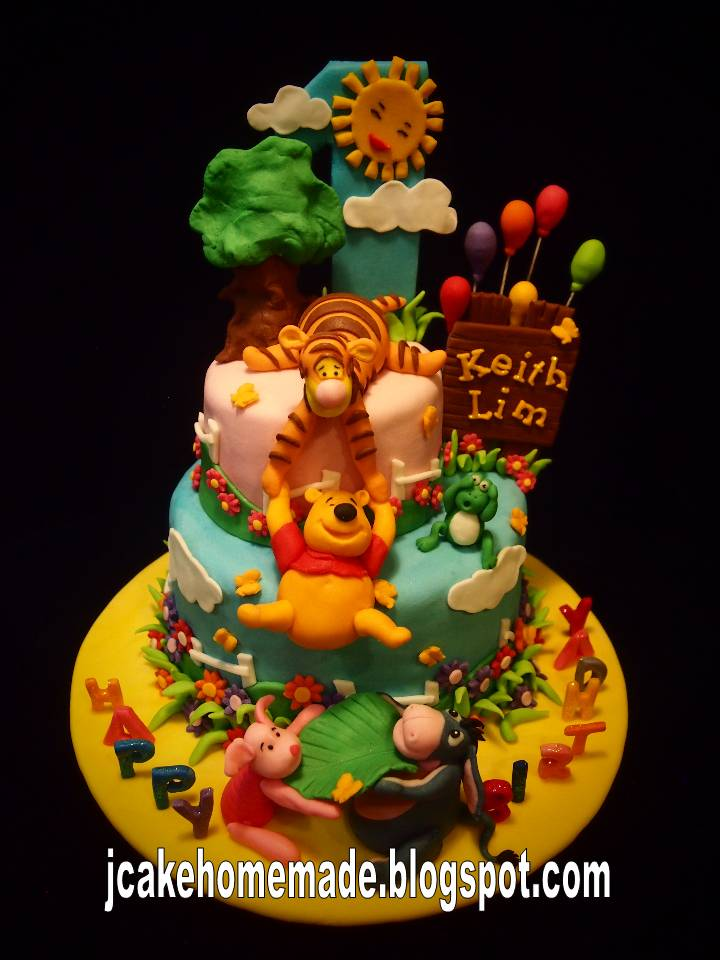 Jcakehomemade Winnie The Pooh Cake