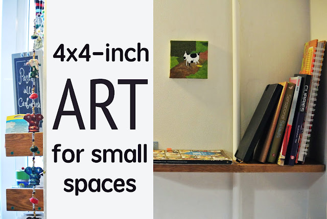 DIY art for small space